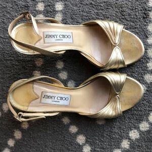 (Jimmy Choo) Strappy Sandals Heels Sz 7